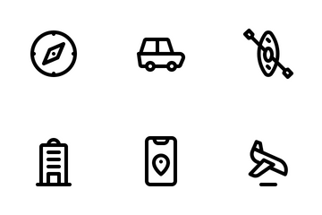 Traveling 1 (Line) Icon Pack