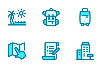 Traveling Blue Icon Pack