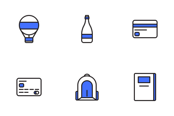 Travelling Set (Blue Field) Icon Pack