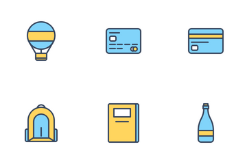Travelling Set (Filled Line) Icon Pack