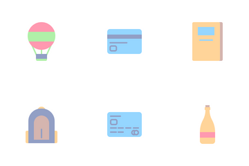 Travelling Set (Flat) Icon Pack