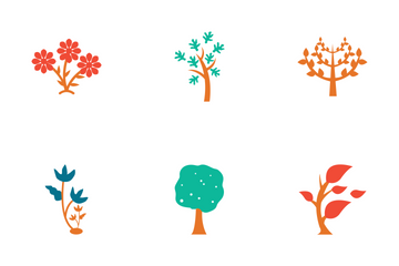 Trees Colored Icons Icon Pack