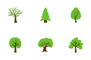 Trees Flat Icons Icon Pack