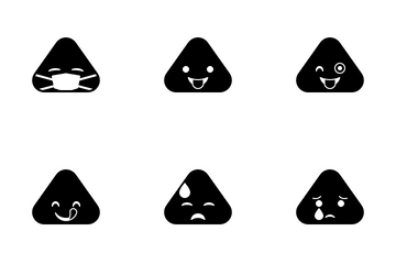 Triangle Emoticon Icon Pack