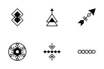 Tribal Vector Icons 4 Icon Pack