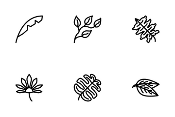 Tropical Leaves Icon Pack