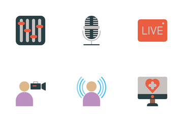Tv And Radio Business Icon Pack