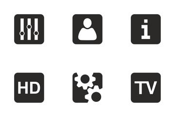 Tv Control Ui  Icon Pack