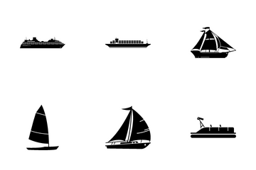 Type Of Boats Ships Icon Pack