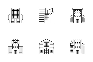 Types Of Building Icon Pack