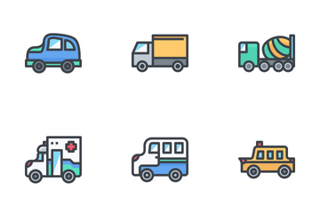 Types Of Car Icon Pack