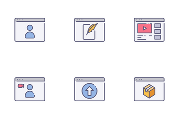 Types Of Website Icon Pack