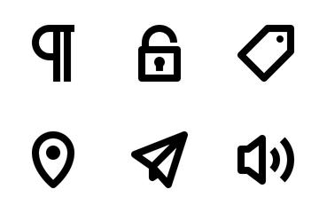 Ui/Ux Essencial Fat Line Vol.3. Icon Pack