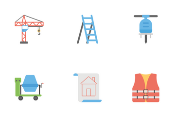 Under Construction Flat Icons Icon Pack