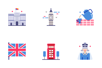 United Kingdom Elements Flat - For Queen And Country Icon Pack