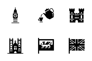 United Kingdom Elements Solid - For Queen And Country Icon Pack