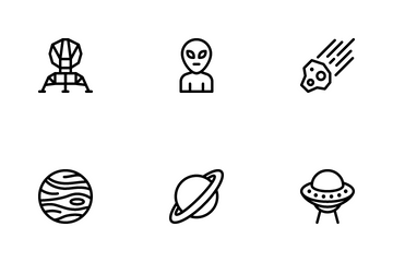 Universe Line Icons Icon Pack