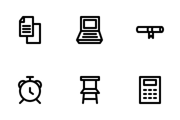 University And Education (Line) Icon Pack
