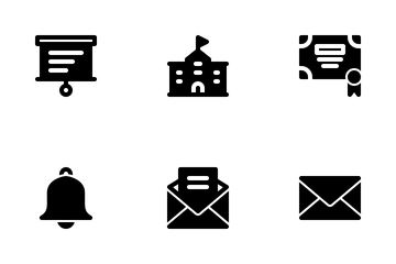 University And Education (Solid) Icon Pack