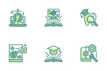 University Courses Icon Pack