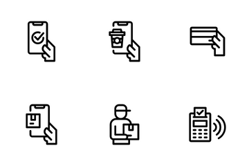 Untact And Contactless Icon Pack