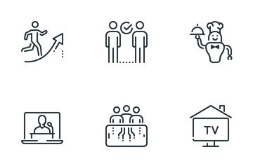 Untact Economy Icon Pack