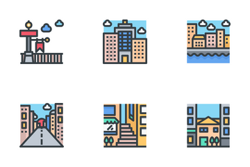 Urban And City Element Icon Pack