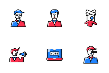 US Election Duticon Icon Pack