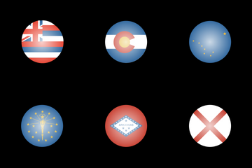 US State Flags Icon Pack