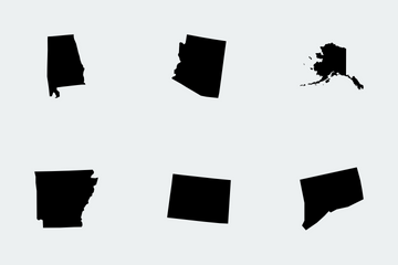 US State Maps Icon Pack