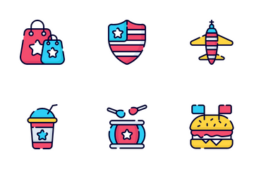 Usa Independence Day Icon Pack