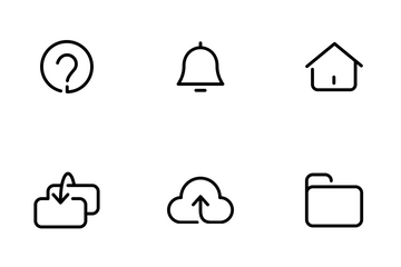 Rounded Outline Essential UI Icon Pack