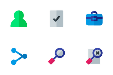 Bussines And Management (Flat) Icon Pack
