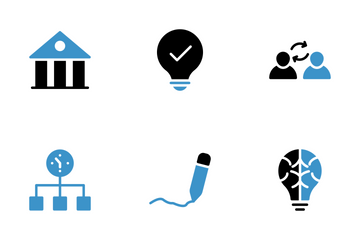 User Interface Blue & Black  Icon Pack