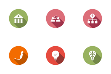 User Interface Circle Shadow Icon Pack