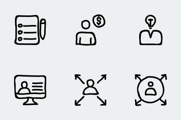 User Interface Hand Drawn Icon Pack