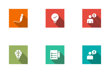 User Interface Square Shadow Icon Pack