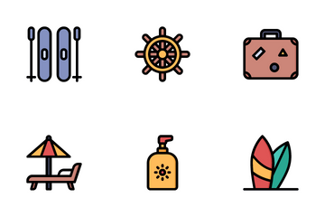 Vacation And Travel Icon Pack