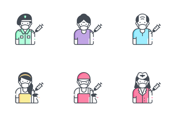 Vaccination Avatar Icon Pack