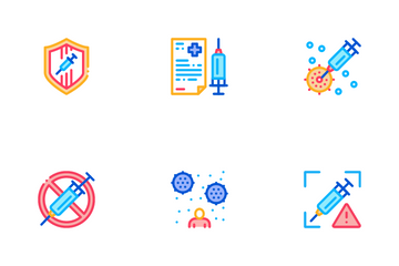 Vaccination Syringe Icon Pack
