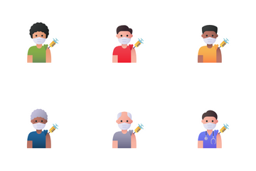 Vaccine Avatars Icon Pack