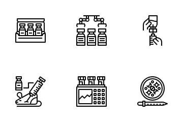 Vaccine Development Icon Pack