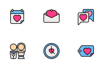 Valentine And Romance 1 (Filled Line) Icon Pack