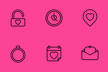 Valentine And Romance Icon Pack