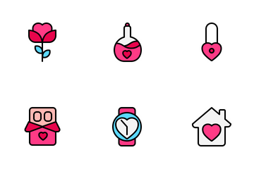 Valentine And Romance 2 (Filled Line) Icon Pack