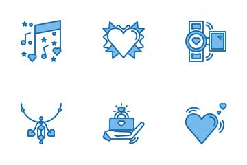 Valentine Blue Icon Pack
