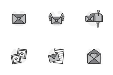 Valentine Envelope Icon Pack