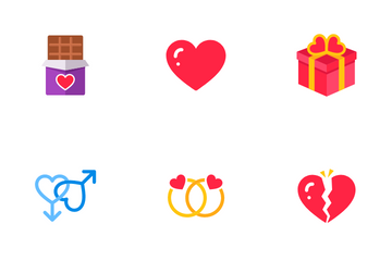 Valentine Flat Icons Icon Pack