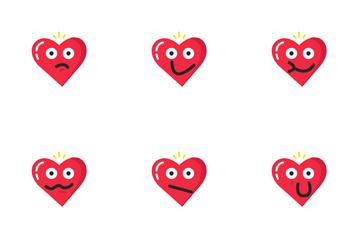 Valentine Heart Emoji Icon Pack