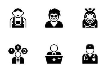 Various People Avatars Icon Pack